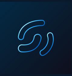 lactobacillus probiotics outline blue icon vector image