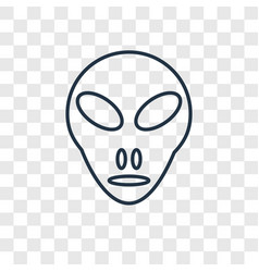 Little extraterrestial concept linear icon vector