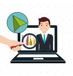 man statistics computer search vector image