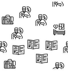 Maternity hospital seamless pattern vector