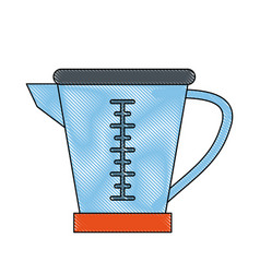 measure cup isolated vector image