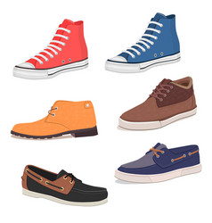 Mens shoes vector