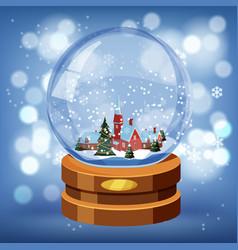 merry christmas greeting card christmas ball vector image