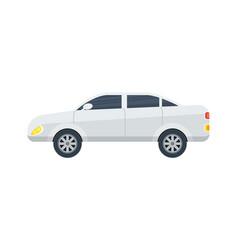 Modern sedan isolated icon vector