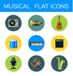 Musical flat icon vector
