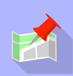 office map pin icon flat style vector image