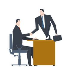 online business web agreement handshake of vector image
