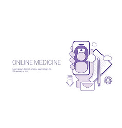online medicine medical application doctor vector image