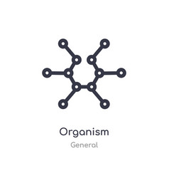Organism outline icon isolated line from general vector