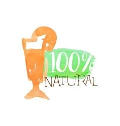 Percent fresh orange juice promo sign vector