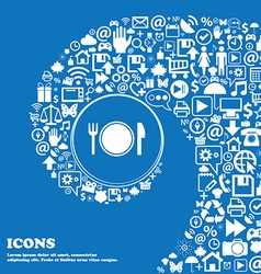 Plate icon sign Nice set of beautiful icons vector