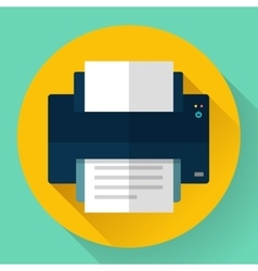 Printer icon Flat design vector
