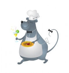 rat cook vector image