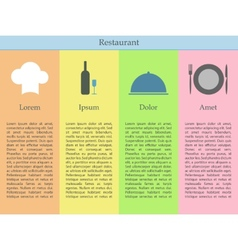 Restaurant infographics vector image vector image