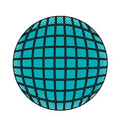 Round futuristic virtual technology cartoon vector