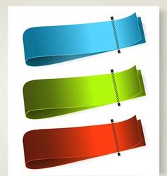 set colorful textile labels vector image