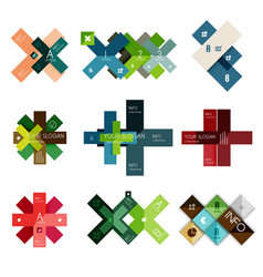 set of cross infographic templates vector image