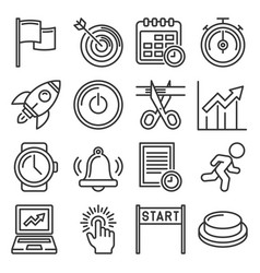 start up business icons set on white background vector image