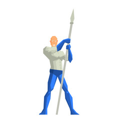 superhero with a spear vector image