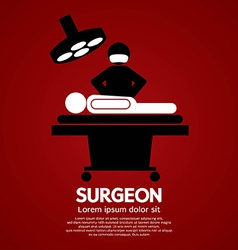 Surgeon Operate On Patient Sign vector image