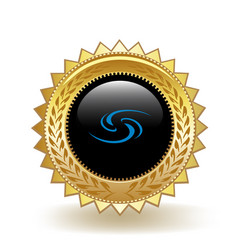 Syscoin cryptocurrency coin gold badge vector