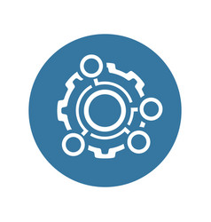 technical data icon gear and option dots vector image