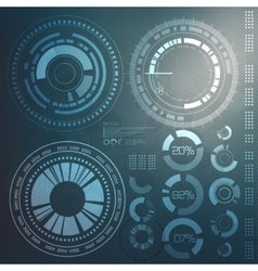 technology element technological background vector image