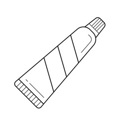 Toothpaste line icon vector