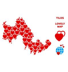Valentine tilos greek island map vector
