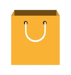 yellow shopping bag graphic vector image