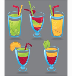 fresh funny drinks vector image vector image