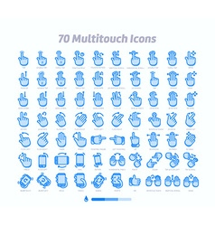 The Gesture Icon Set vector image
