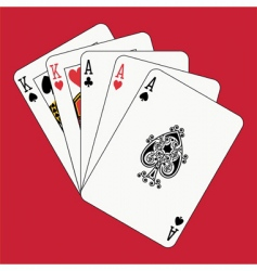 full house aces and kings vector image