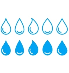 linear water drops set vector image vector image