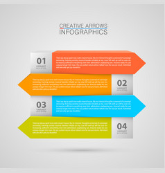 list of options art info vector image