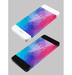 template phone vector image vector image