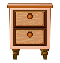 A table with drawer vector image vector image
