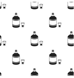absinthe icon in black style isolated on white vector image vector image