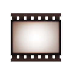 Blank realistic vintage retro old film strip vector image