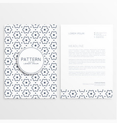 elegant simple letterhead design with abstract vector image