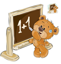 a brown teddy bear is vector image vector image