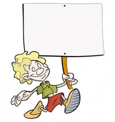 boy placard vector image