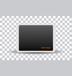 clean isolated foto frame vector image vector image