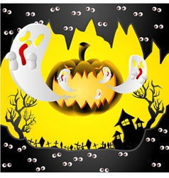 creative halloween design with space vector image vector image