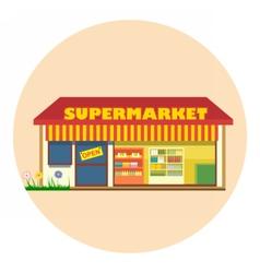 Digital super market building icon vector image
