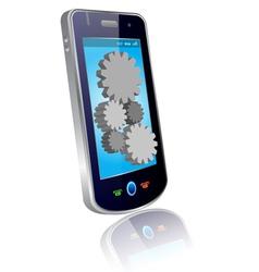 mobile setting vector image