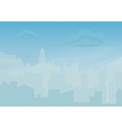 Rain storm and fog in the city Cityscape vector image vector image