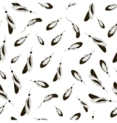 sketch feather pattern vector image