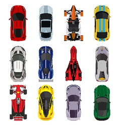 Sport and racing cars vector image