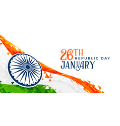 26th january indian republic day banner design vector